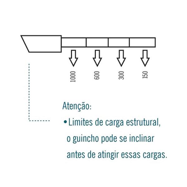 Guincho Hidráulico V 1 Ton com Alongador e Rodas PU