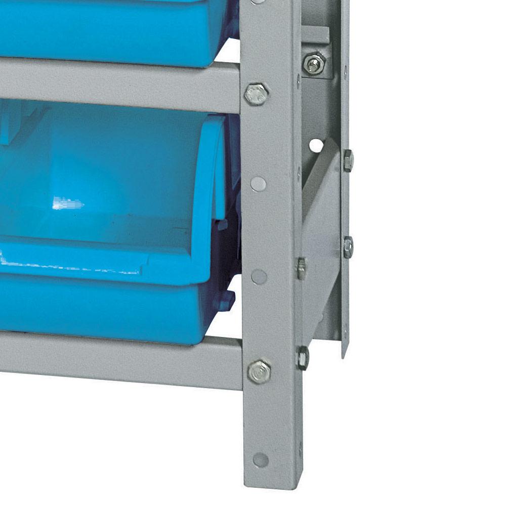 Estante Gaveteiro com 12 caixas - cor azul