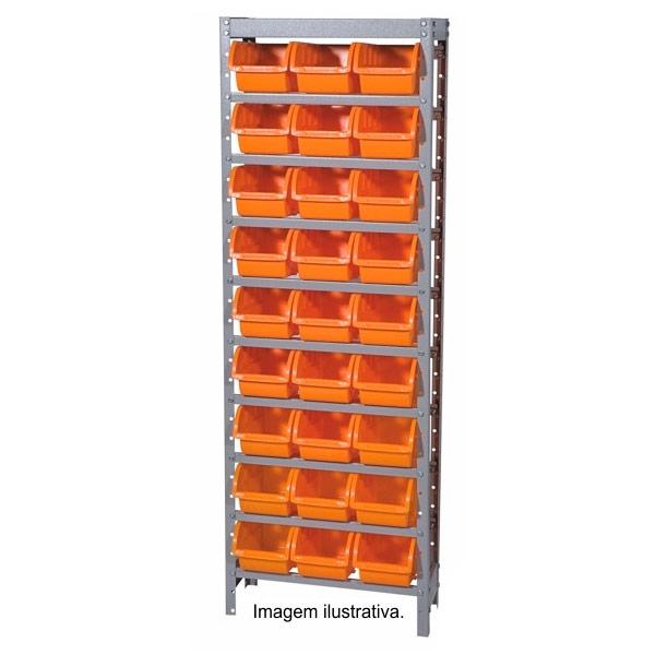 Estante Gaveteiro com 27 caixas de cor azul - Marcon
