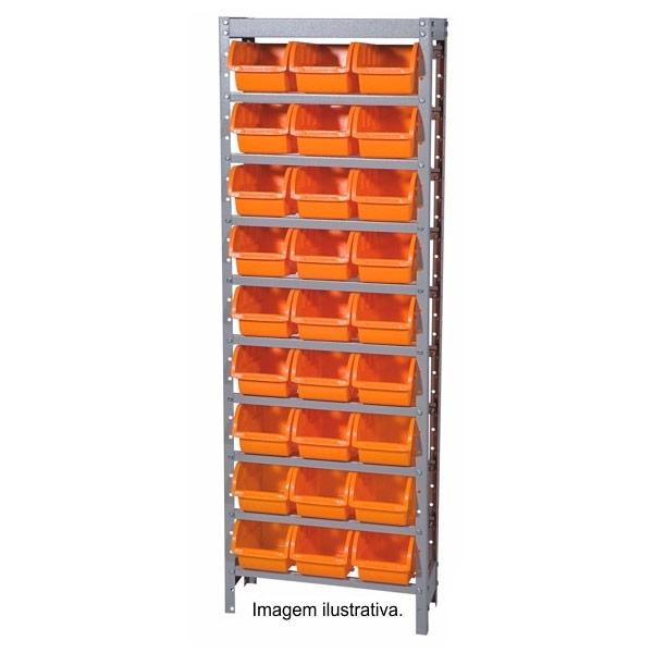 Estante Gaveteiro com 27 caixas preta - Marcon