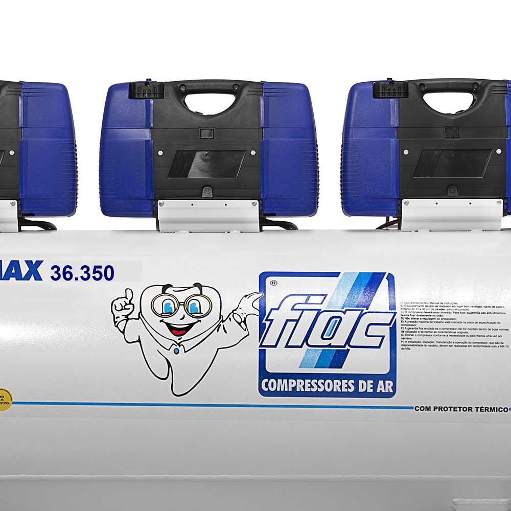 Compressor Odontológico Fiac 350 litros - 36 pés