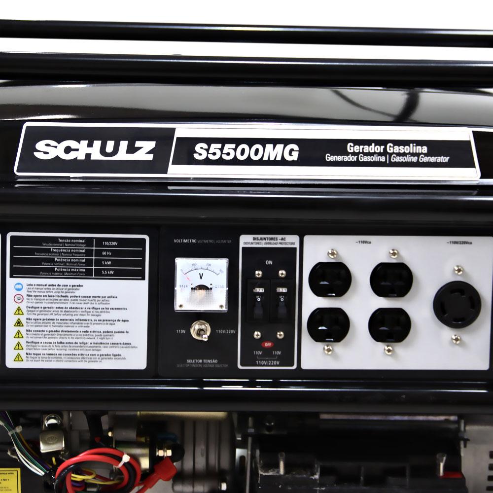 Gerador de Energia Portátil à Gasolina Schulz 5.5 KVA