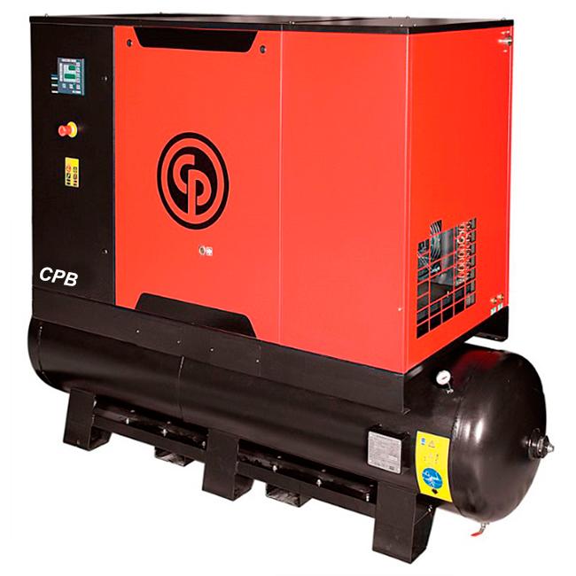 Compressor de Ar Parafuso Chicago Pneumatic 25 HP 475 Litros com Secador e Filtro