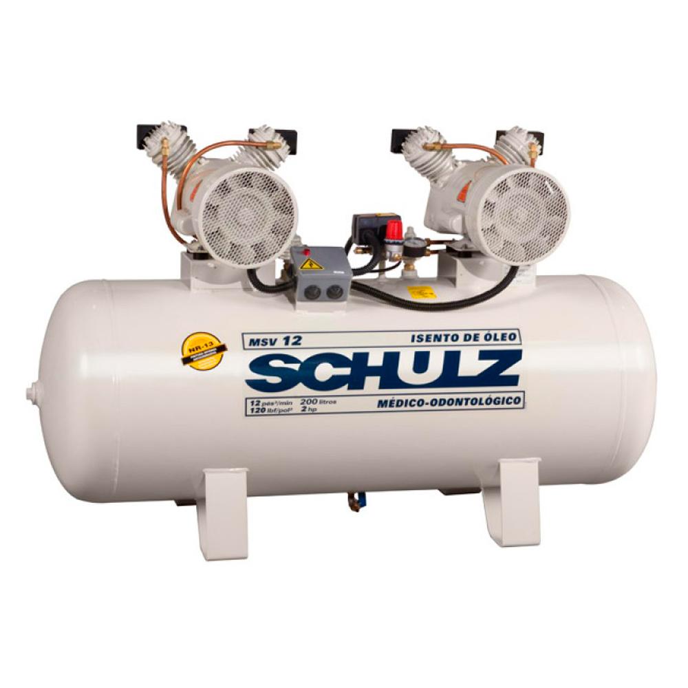 Compressor Odontológico Schulz 100 litros - 12 pés
