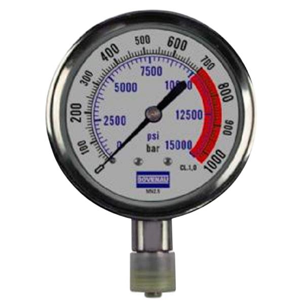 Manômetro de Pressão MN 2.5 de 1.000 bar