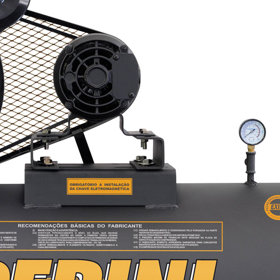 Compressor de Ar Industrial Alta Pressão Chiaperini 250 litros - 20 pés