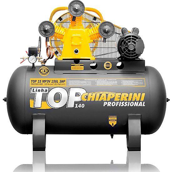 Compressor de Ar Industrial Chiaperini 150 litros - 15 Pés