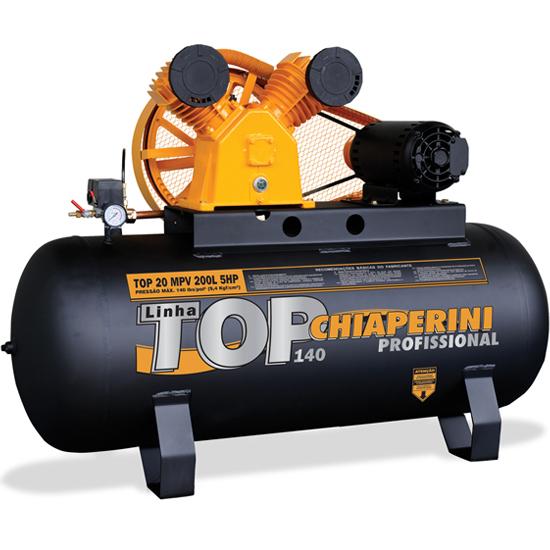 Compressor de Ar Industrial Chiaperini 200 litros - 20 Pés