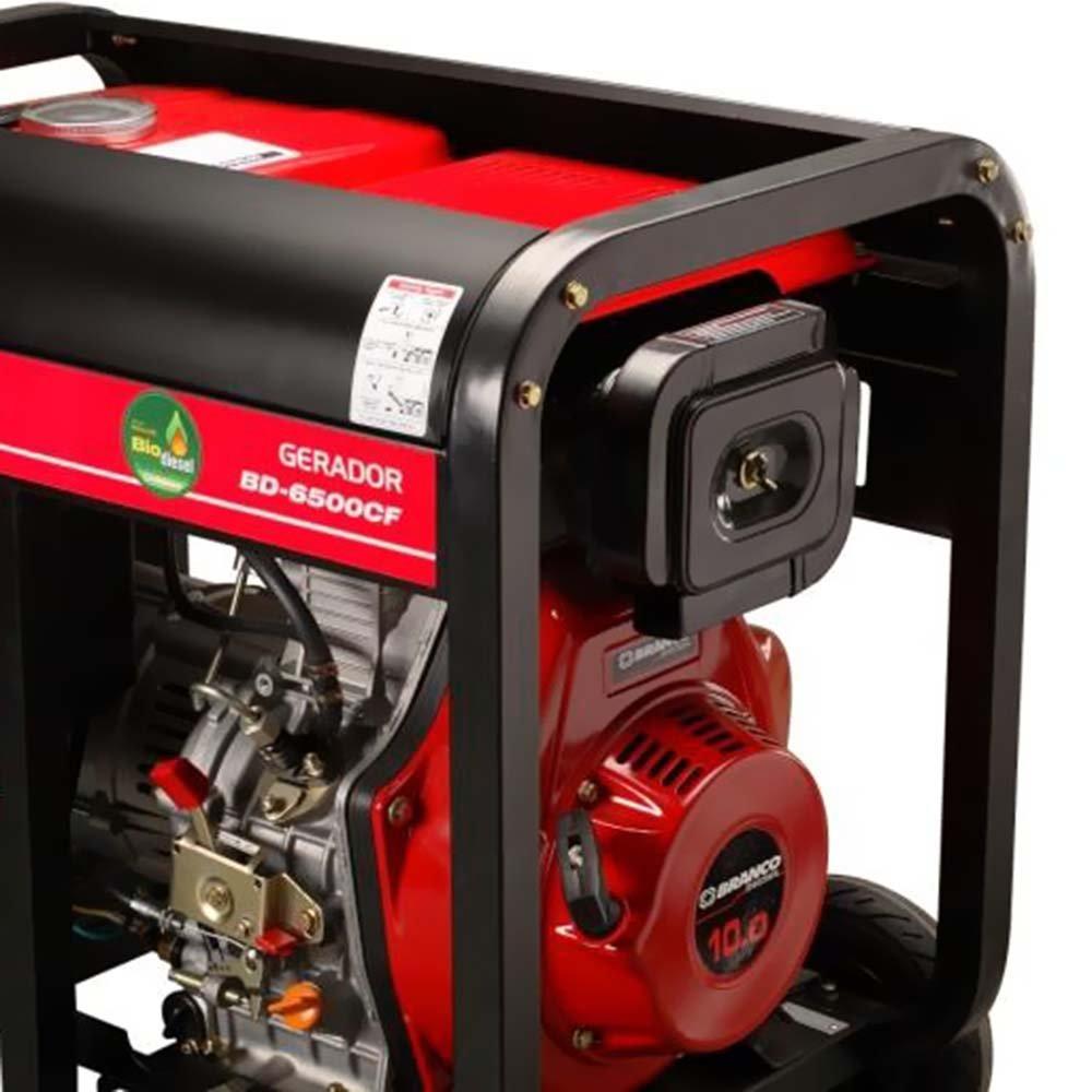 Gerador de Energia à Diesel Branco 5.5 KVA