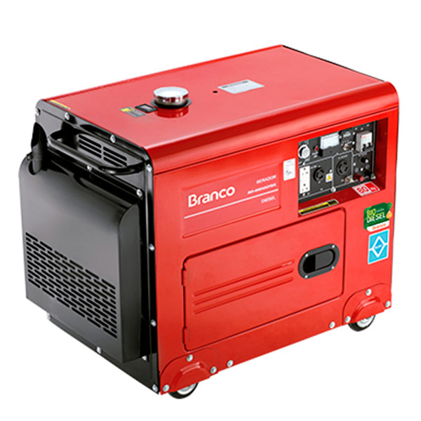 Gerador de Energia à Diesel Silencioso Branco 4 KVA