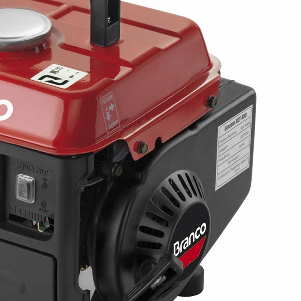 Gerador de Energia à Gasolina Branco 0.95 KVA