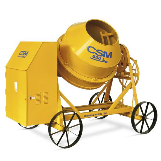 Betoneira CSM 600 litros Motor 4 HP sem Carregador