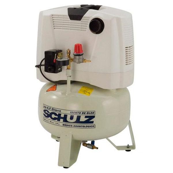 Compressor Médico Odontológico Silencioso Schulz 30 litros - 6.5 pés