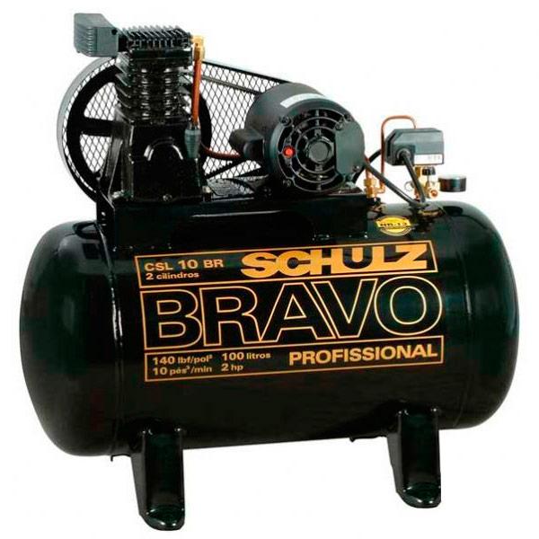 Compressor de Ar Schulz 100 litros - 10 P�s