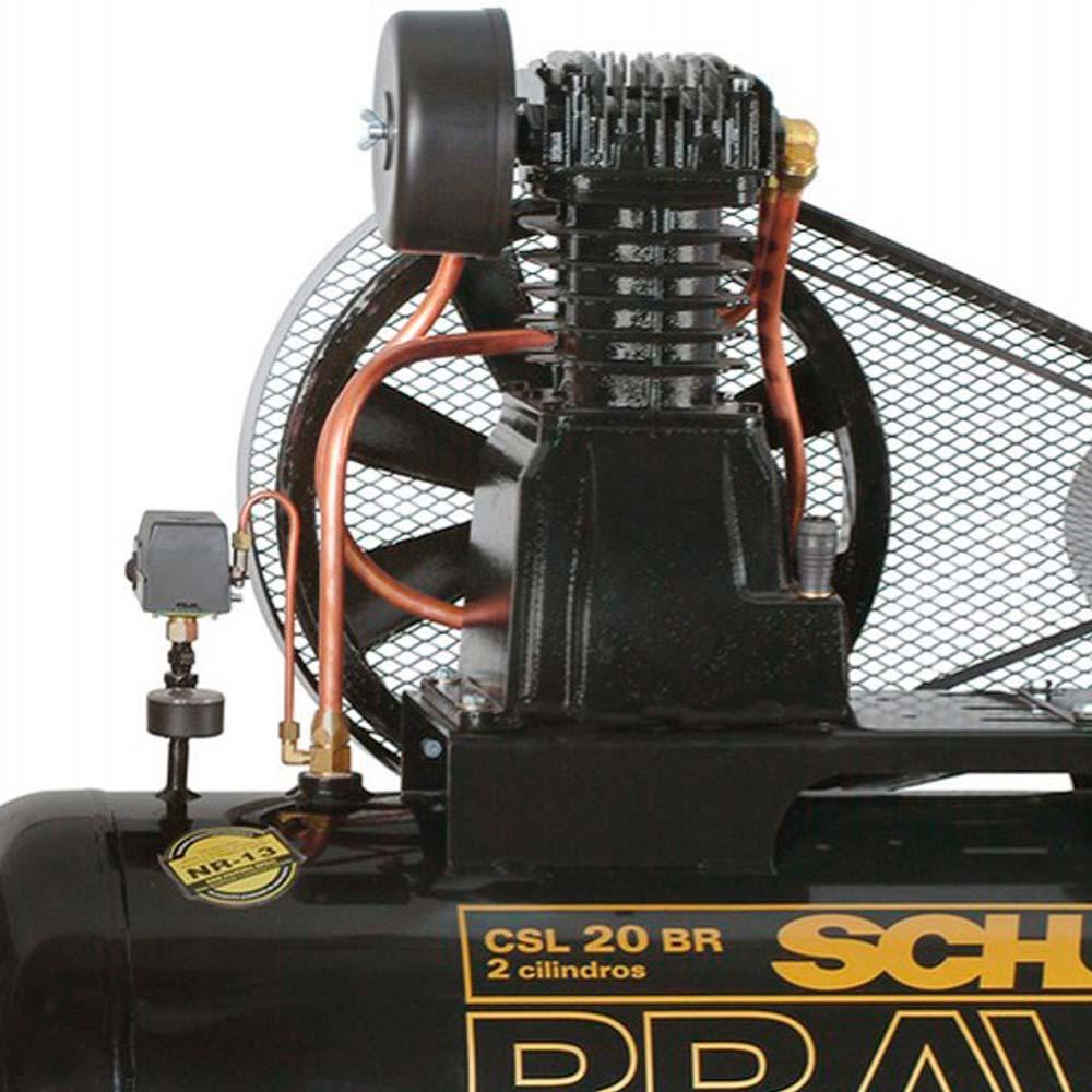 Compressor de Ar Industrial Alta Press�o Schulz 200 litros - 20 p�s