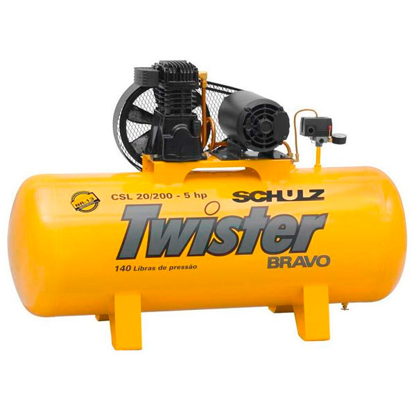 Compressor de Ar Industrial Schulz 200 litros - 20 Pés