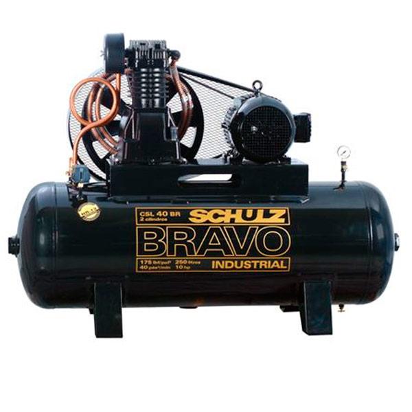 Compressor de ar Industrial Alta Pressão Schulz 250 litros - 40 pés