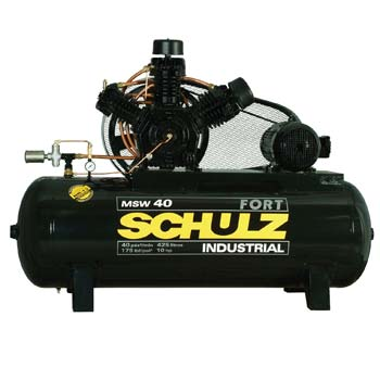 Compressor de ar Industrial Alta Press�o Schulz 425 litros - 40 p�s