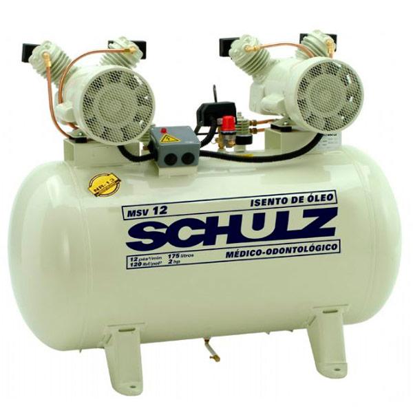 Compressor Odontológico Schulz 200 litros - 12 pés