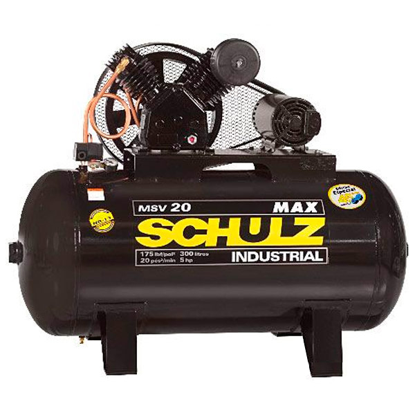 Compressor de Ar Industrial Alta Pressão Schulz 300 litros - 20 pés