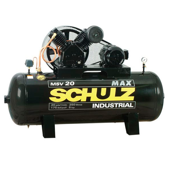 Compressor de Ar Industrial Alta Press�o Schulz 250 litros - 20 p�s