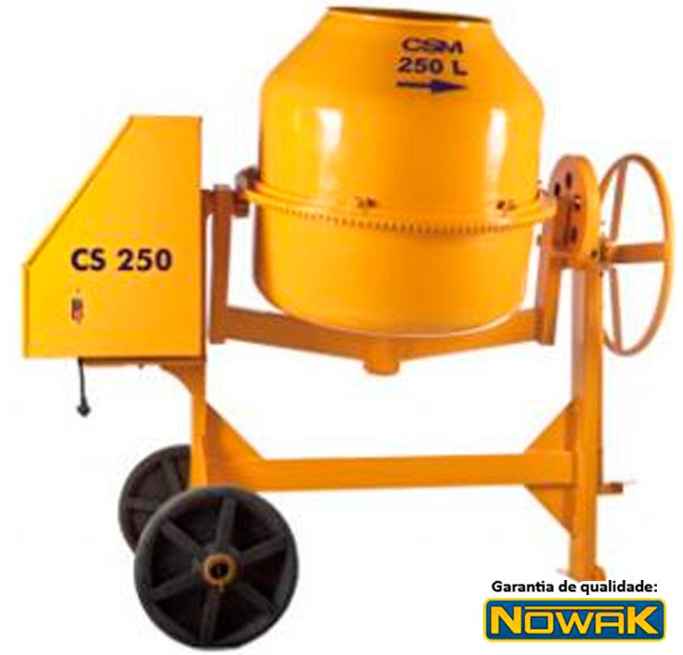 Betoneira CSM 250 litros Motor 1 HP