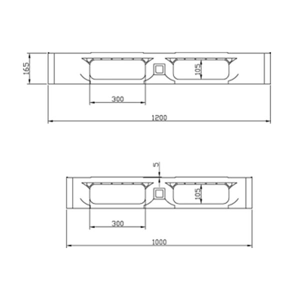 Pallet de Plástico 1210-6 Preto