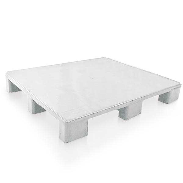 Pallet de Plástico 1210 Multi Liso Branco