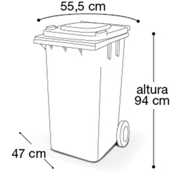 Carrinho Coletor de Lixo com Tampa 120 Litros Branca com Pedal