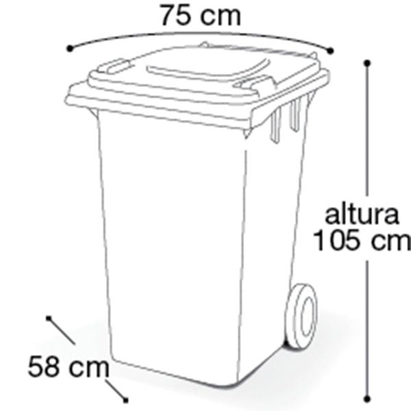 Carrinho Coletor de Lixo com Tampa 240 Litros Marrom