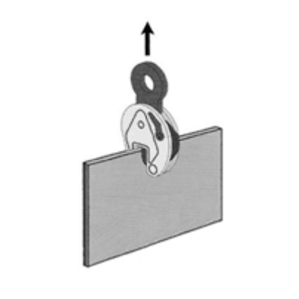 Pega Chapa Vertical 2 Toneladas Sansei JCD - Sem Articulação