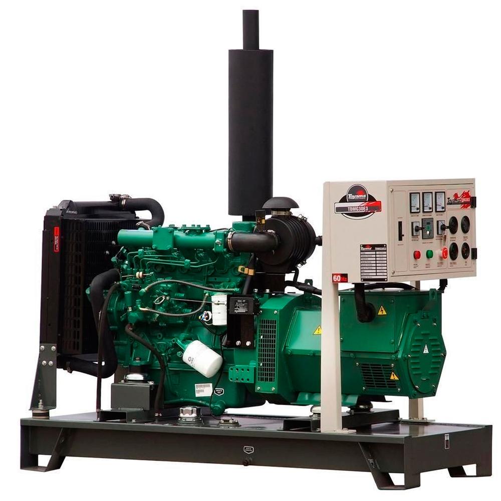 Gerador de Energia à Diesel Aberto Toyama 30 KVA
