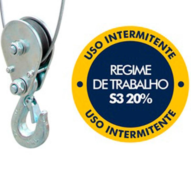 Guincho Elétrico de Cabo de Aço 100/200 KG
