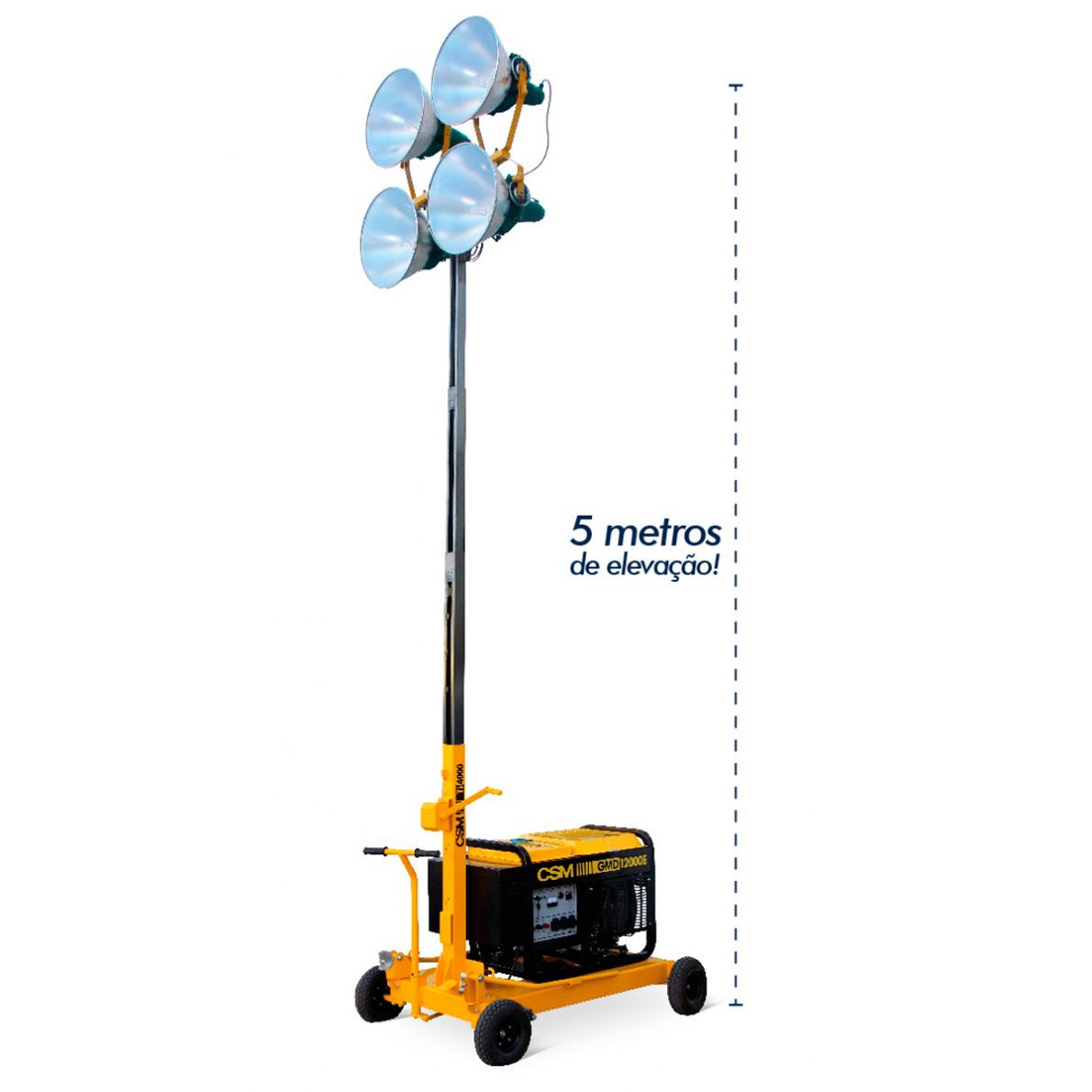 Torre de Iluminação CSM 1000W sem Gerador