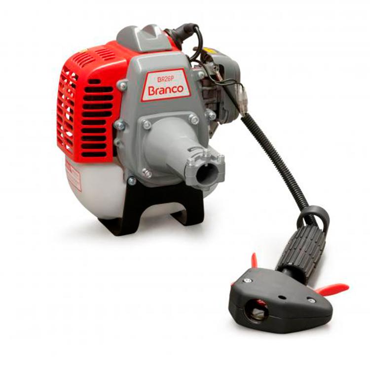Motor à Gasolina 1 HP para Roçadeira Branco BR26P