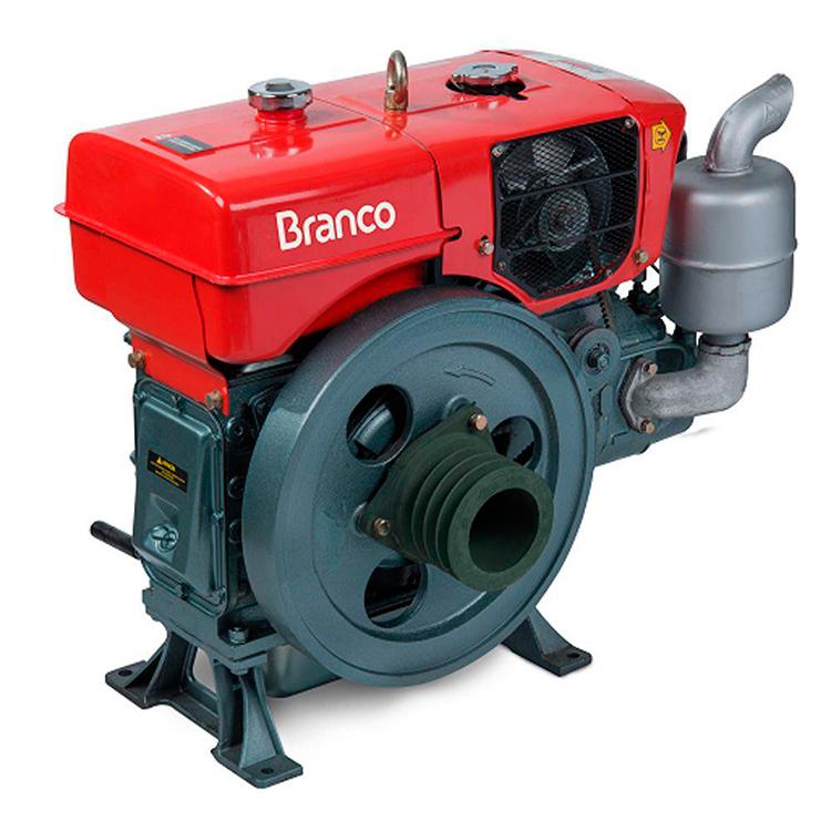 Motor à Diesel Branco Refrigerado à Agua 17.4 HP