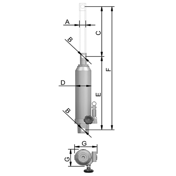 Unidade Hidráulica G200H para Guincho Bovenau 11 Ton