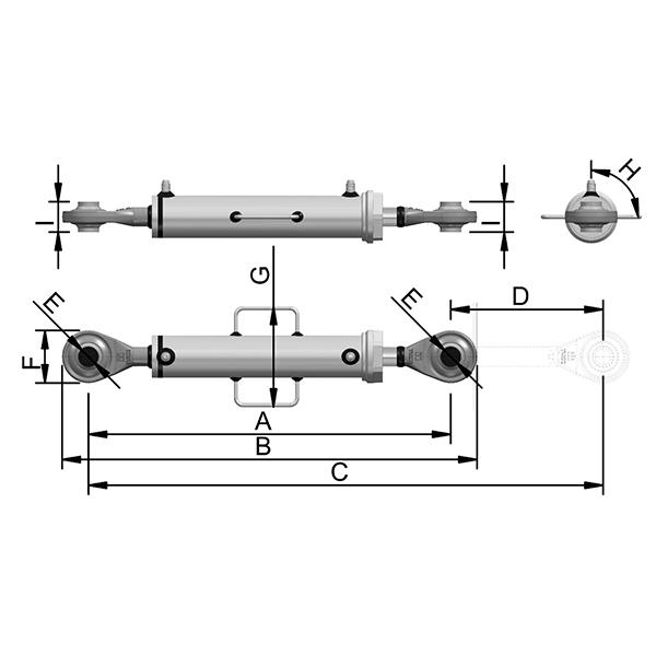 Cilindro Hidráulico de Terceiro Ponto C4200