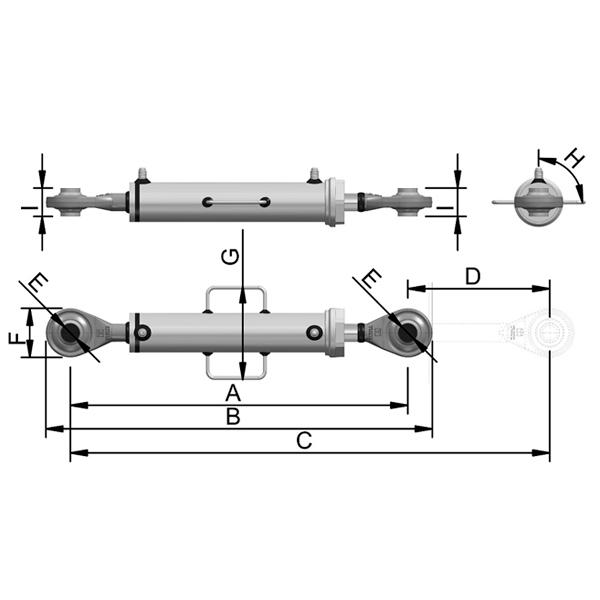 Cilindro Hidráulico de Terceiro Ponto C4200A