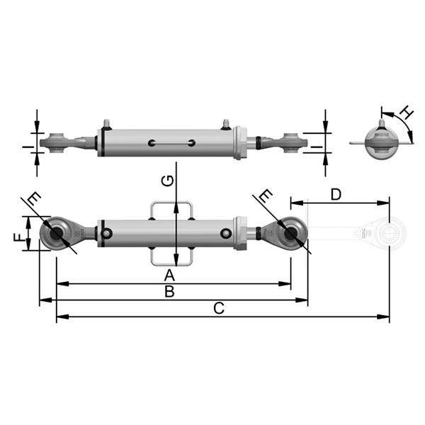 Cilindro Hidráulico de Terceiro Ponto C4200B