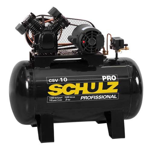 Compressor de Ar Schulz 100 litros - 10 Pés CSV10/100