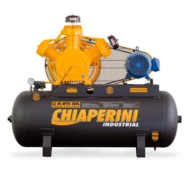 Compressor de ar Industrial Alta Pressão Chiaperini 360 litros - 40 pés