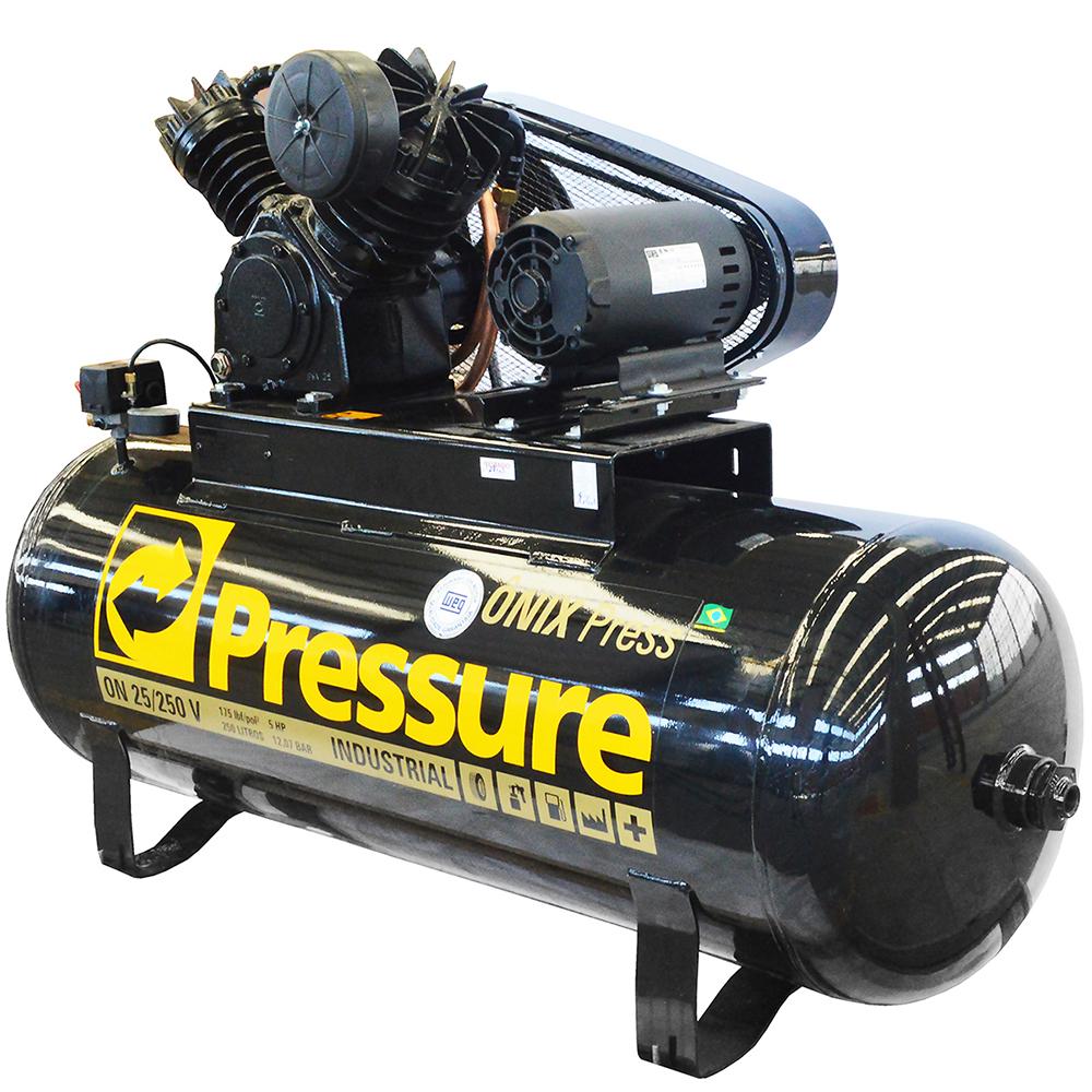 Compressor de Ar Industrial Alta Press�o Pressure 250 litros - 25 p�s