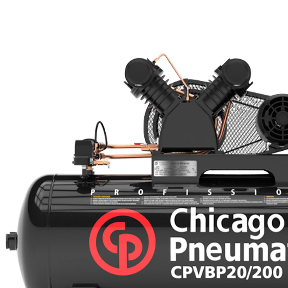 Compressor de Ar Chicago Pneumatic 200 Litros - 20 Pés