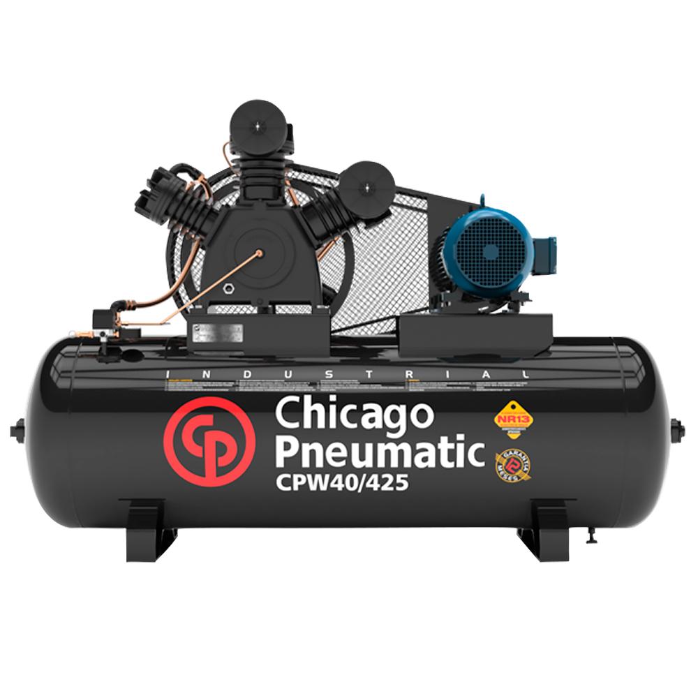 Compressor de Ar Alta Pressão Chicago Pneumatic 425 Litros - 40 Pés