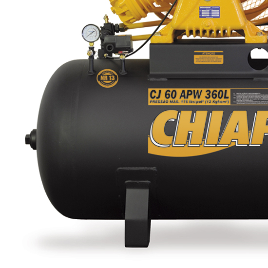Compressor de ar Industrial Alta Pressão Chiaperini 360 litros - 60 pés