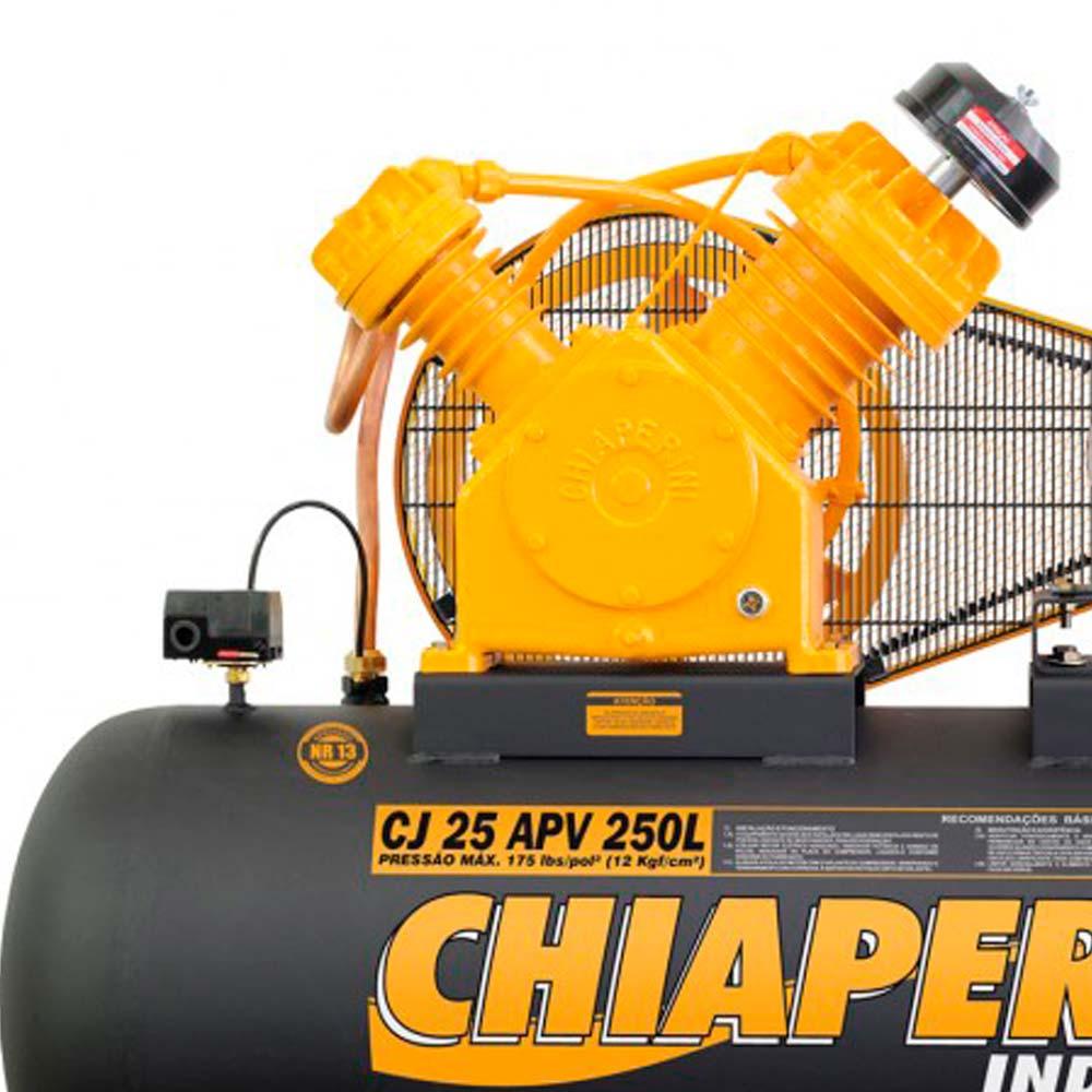 Compressor de Ar Industrial Alta Pressão Chiaperini 250 litros - 25 pés