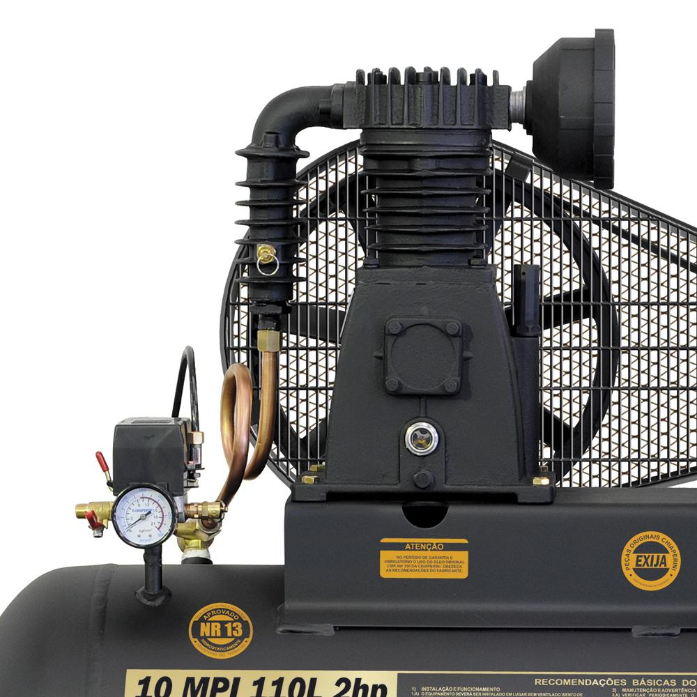 Compressor de Ar Industrial Chiaperini 110 litros - 10 P�s