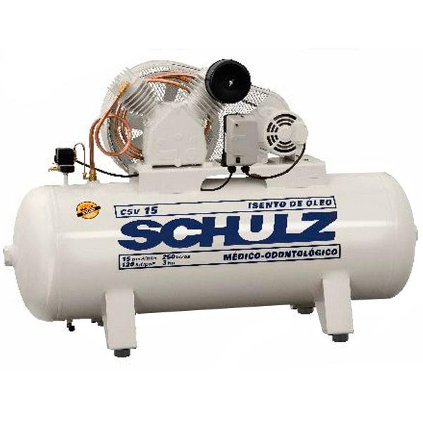 Compressor Médico Odontológico Schulz 250 litros - 15 pés