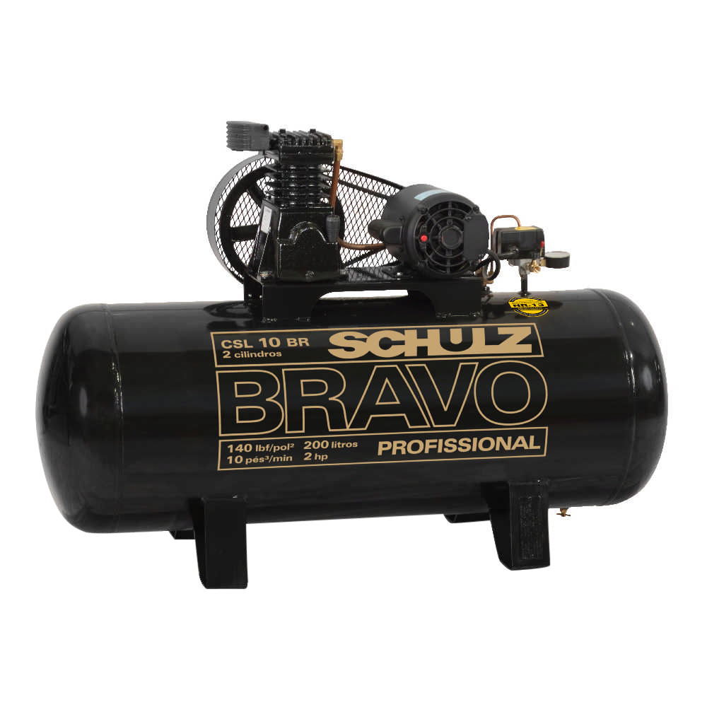Compressor de Ar Industrial Schulz 200 litros - 10 Pés